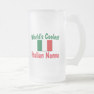 Coolest Italian Nonno 16 Oz Frosted Glass Beer Mug