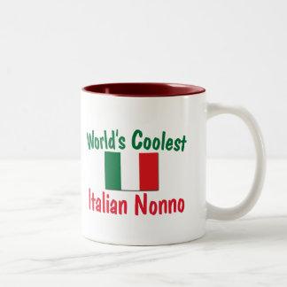 Coolest Italian Nonno Two-Tone Coffee Mug