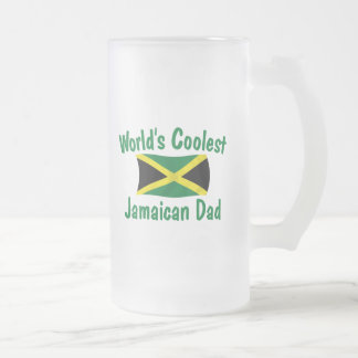Coolest Jamaican Dad Frosted Glass Beer Mug