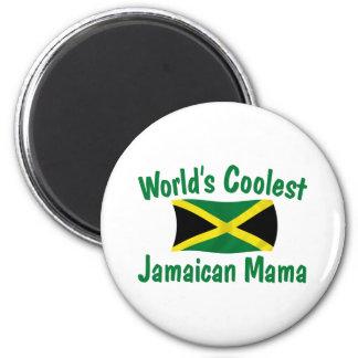 Coolest Jamaican Mama 2 Inch Round Magnet