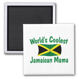 Coolest Jamaican Mama 2 Inch Square Magnet