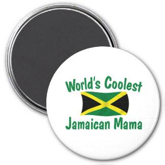 Coolest Jamaican Mama 3 Inch Round Magnet