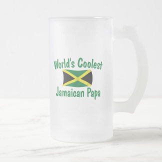 Coolest Jamaican Papa Frosted Glass Beer Mug