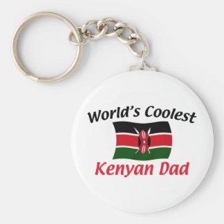 Coolest Kenyan Dad Basic Round Button Keychain