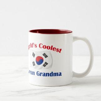 Coolest Korean Grandma Two-Tone Coffee Mug
