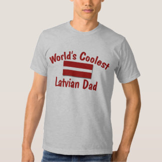 Coolest Latvian Dad Tee Shirts