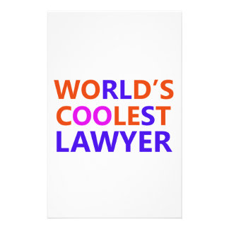 coolest lawyer stationery