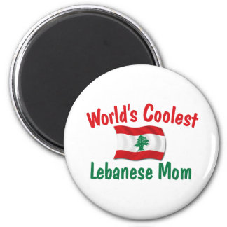Coolest Lebanese Mom 2 Inch Round Magnet