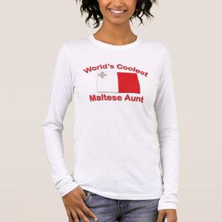 Coolest Maltese Aunt Long Sleeve T-Shirt