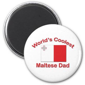 Coolest Maltese Dad 2 Inch Round Magnet