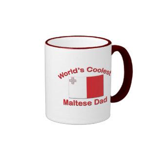Coolest Maltese Dad Ringer Coffee Mug