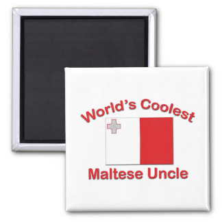Coolest Maltese Uncle 2 Inch Square Magnet