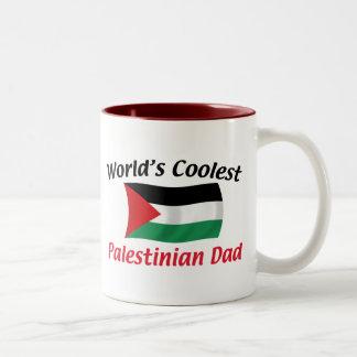 Coolest Palestinian Dad Two-Tone Coffee Mug