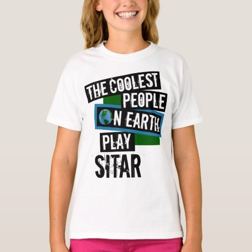 The Coolest People on Earth Play Sitar Indian String Instrument T-Shirt