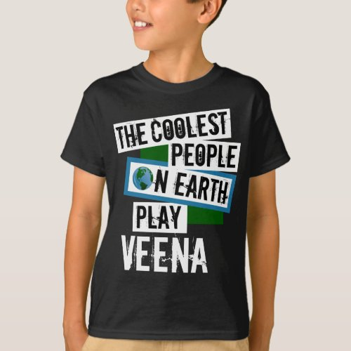 The Coolest People on Earth Play Veena Indian String Instrument T-Shirt