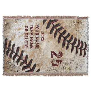 Coolest Personalized Baseball Throw Blanket