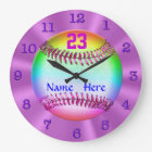 Coolest Personalized Softball Clocks for Girls