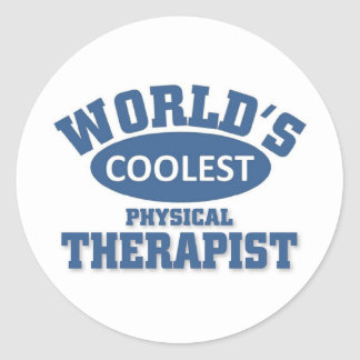Coolest Physical Therapist Classic Round Sticker