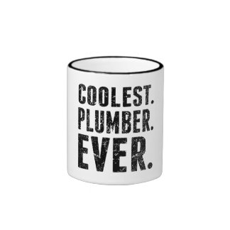 Coolest. Plumber. Ever. Ringer Coffee Mug