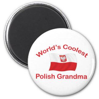 Coolest Polish Grandma 2 Inch Round Magnet