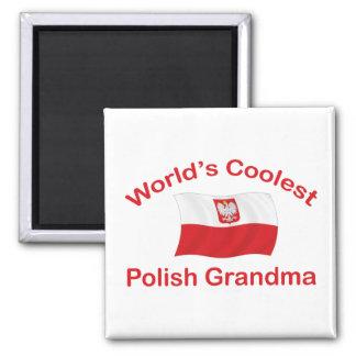 Coolest Polish Grandma 2 Inch Square Magnet