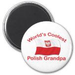 Coolest Polish Grandpa 2 Inch Round Magnet