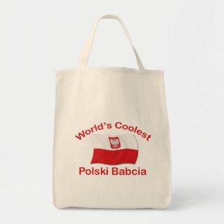 Coolest Polski Babcia Grocery Tote Bag