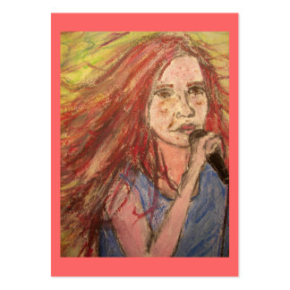 Coolest Rocker Girl art Large Business Card