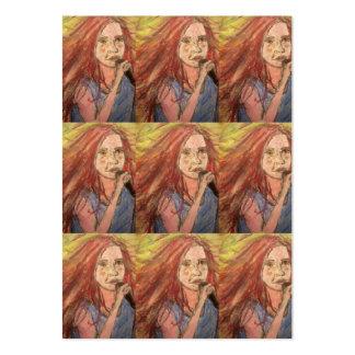 Coolest Rocker Girl Large Business Card