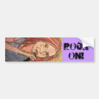 Coolest Rocker Girl Rock On Bumper Sticker