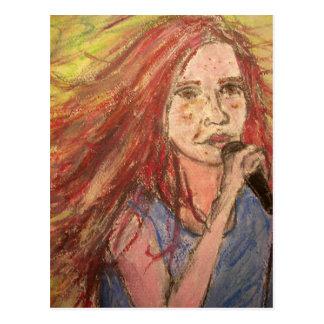Coolest Rocker Girl rock on Postcard