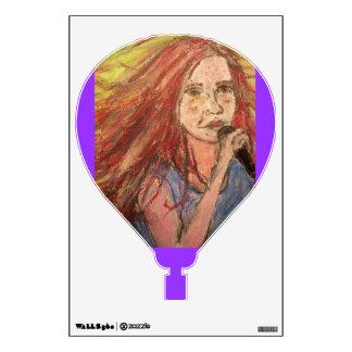 Coolest Rocker Girl Wall Sticker
