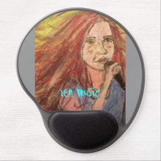 Coolest Rocker Girl zen music Gel Mouse Pad