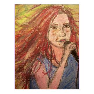 Coolest Rocker Song Girl Postcard
