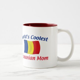 Coolest Romanian Mom Two-Tone Coffee Mug