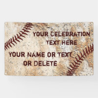 Coolest Rustic Personalized Baseball Banner