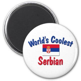 Coolest Serbian 2 Inch Round Magnet