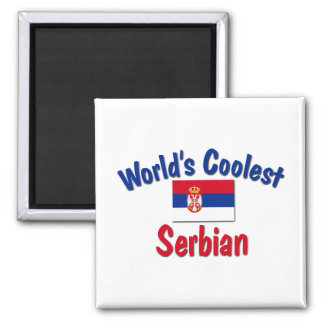 Coolest Serbian 2 Inch Square Magnet