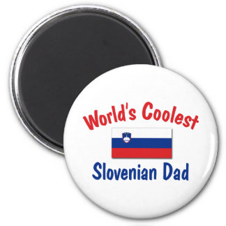Coolest Slovenian Dad 2 Inch Round Magnet