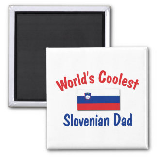 Coolest Slovenian Dad 2 Inch Square Magnet