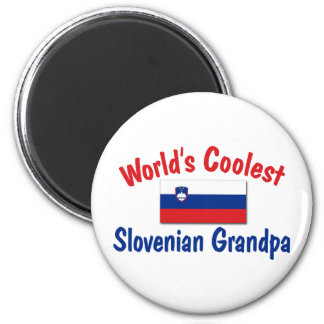 Coolest Slovenian Grandpa 2 Inch Round Magnet