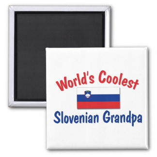 Coolest Slovenian Grandpa 2 Inch Square Magnet