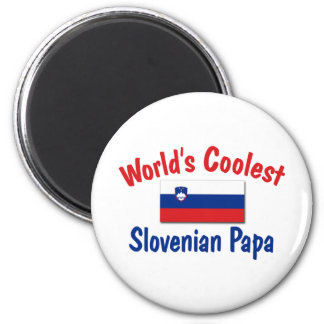 Coolest Slovenian Papa 2 Inch Round Magnet