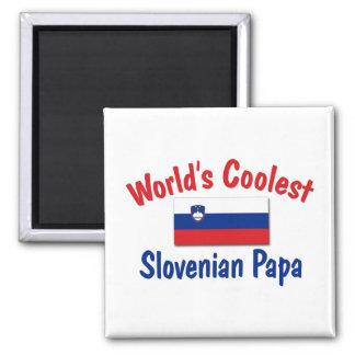 Coolest Slovenian Papa 2 Inch Square Magnet