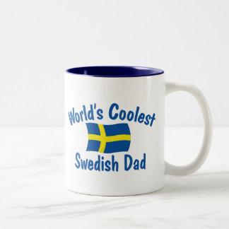 Coolest Swedish Dad Two-Tone Coffee Mug