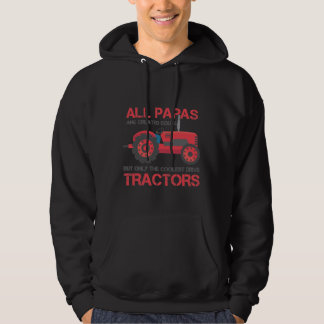 Coolest Tractor Papa Farming Dad Farmer Father Hoodie