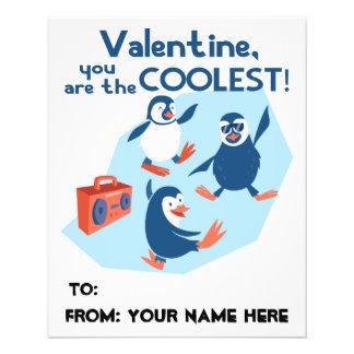 Coolest Valentine Dancing Penguins Boys Kids Flyer
