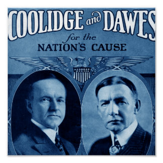 Coolidge and Dawes Poster