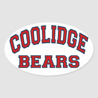 Coolidge Bears Oval Sticker