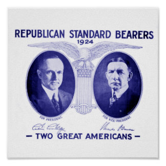 Coolidge-Dawes 1924 Framed Poster